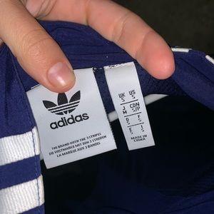 Adidas blue windbreaker small jacket